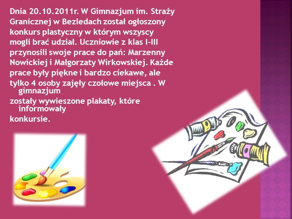Dnia 20.10.2011r. W Gimnazjum im.