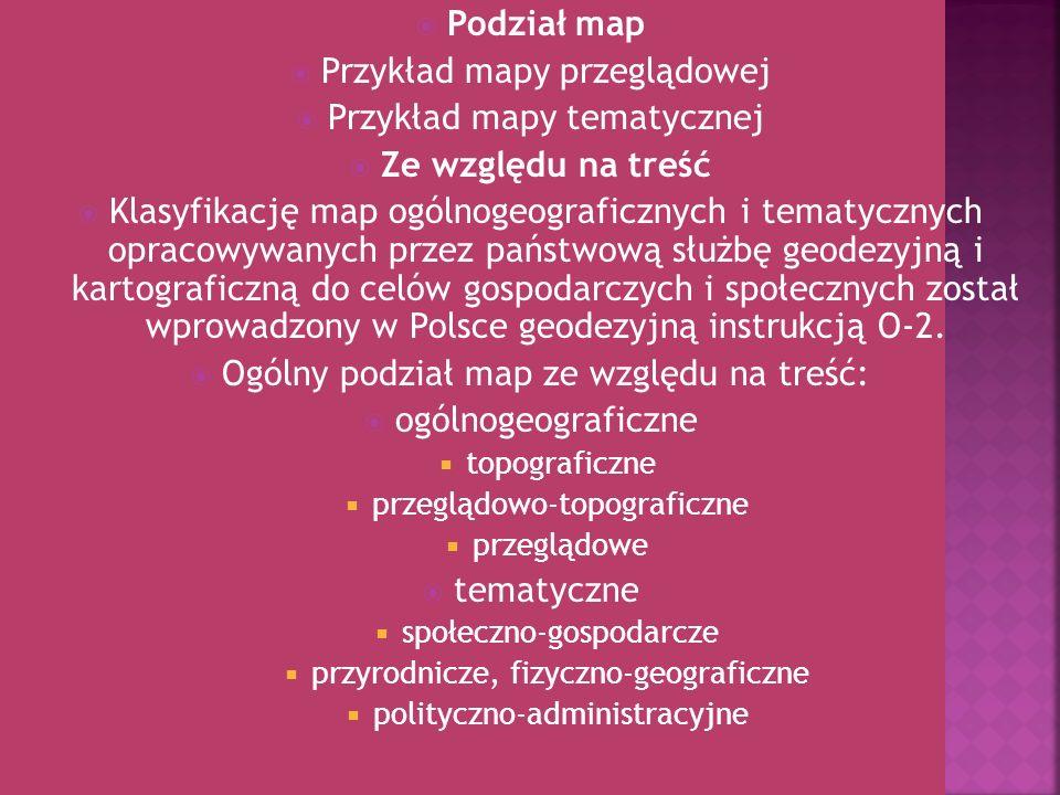 Podział map Ze względu na treść