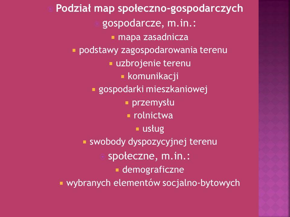 Podział map społeczno-gospodarczych