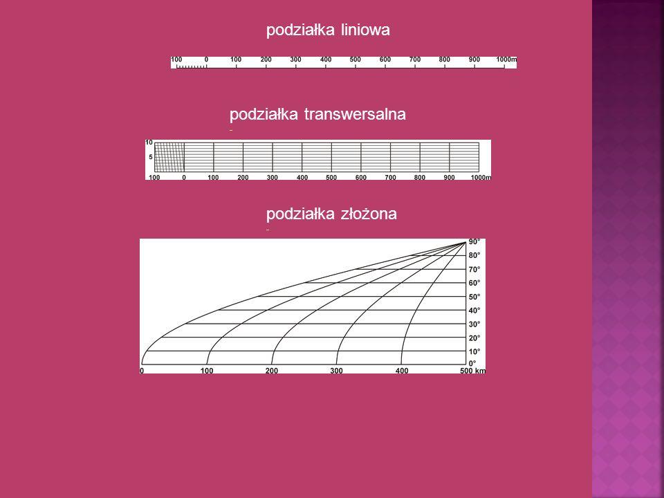 podziałka transwersalna