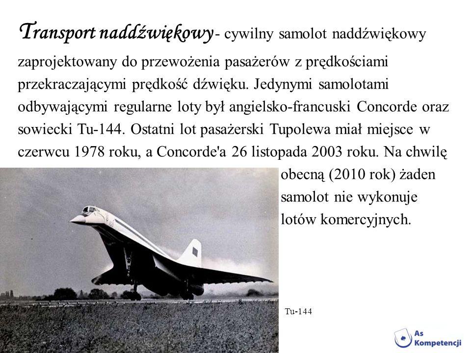 Transport naddźwiękowy - cywilny samolot naddźwiękowy