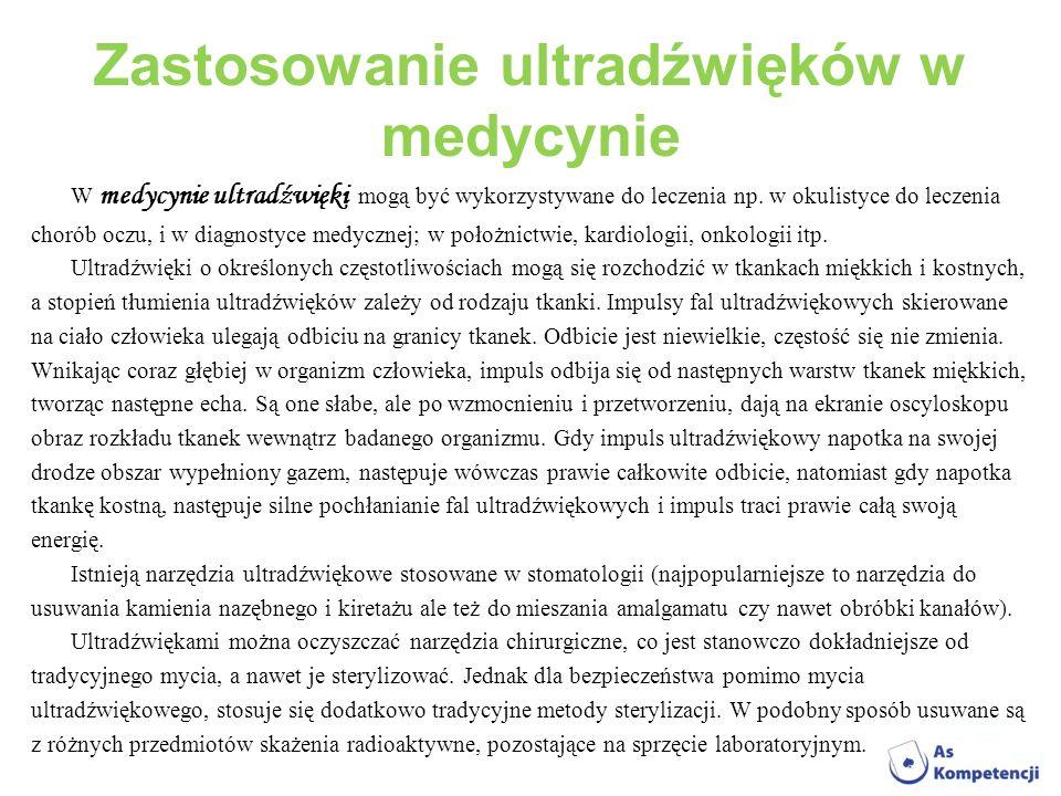 Zastosowanie ultradźwięków w medycynie