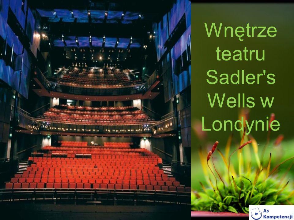Wnętrze teatru Sadler s Wells w Londynie