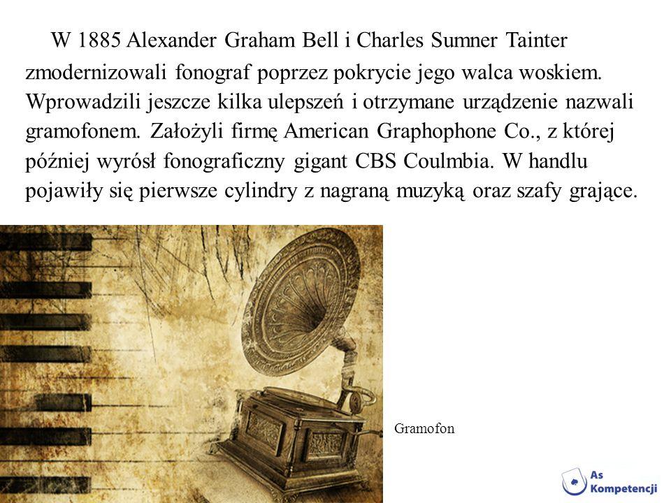 W 1885 Alexander Graham Bell i Charles Sumner Tainter