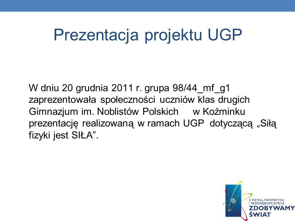 Prezentacja projektu UGP