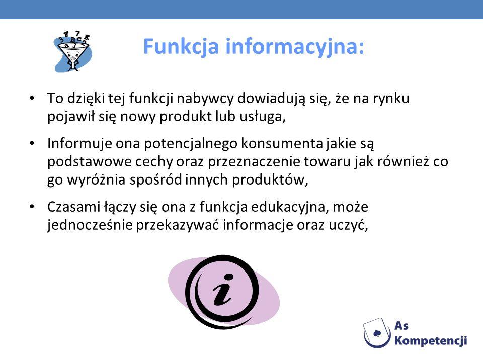Funkcja informacyjna: