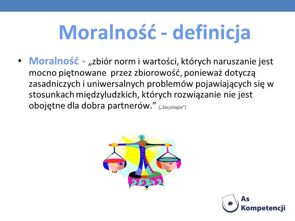Moralność - definicja