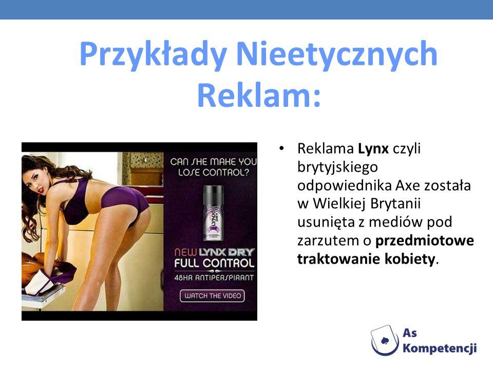 Przykłady Nieetycznych Reklam: