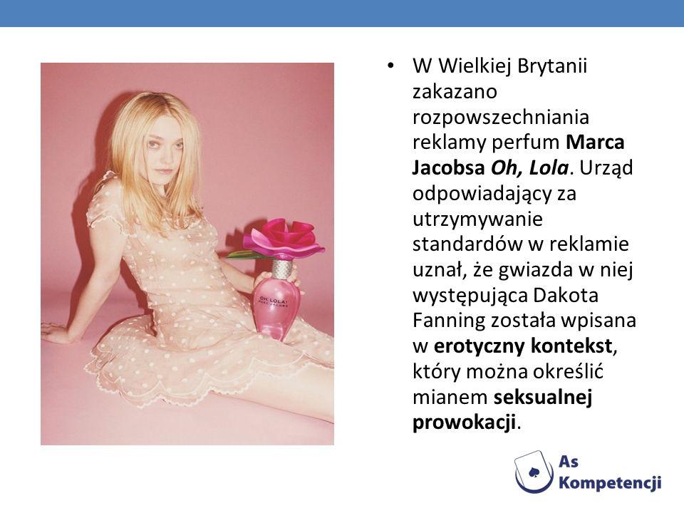 W Wielkiej Brytanii zakazano rozpowszechniania reklamy perfum Marca Jacobsa Oh, Lola.