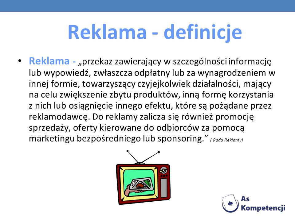 Reklama - definicje