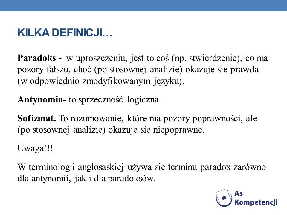 Kilka definicji…