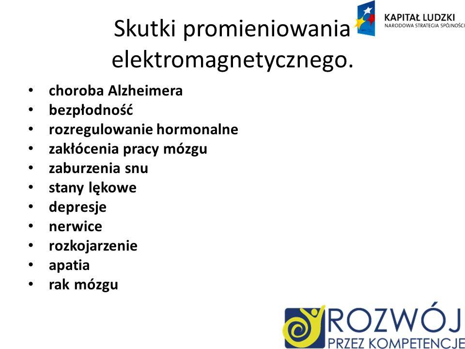 Skutki promieniowania elektromagnetycznego.