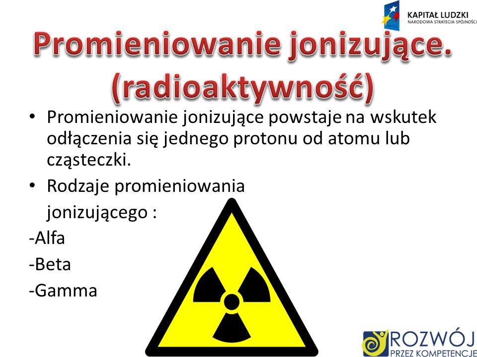 Promieniowanie jonizujące.