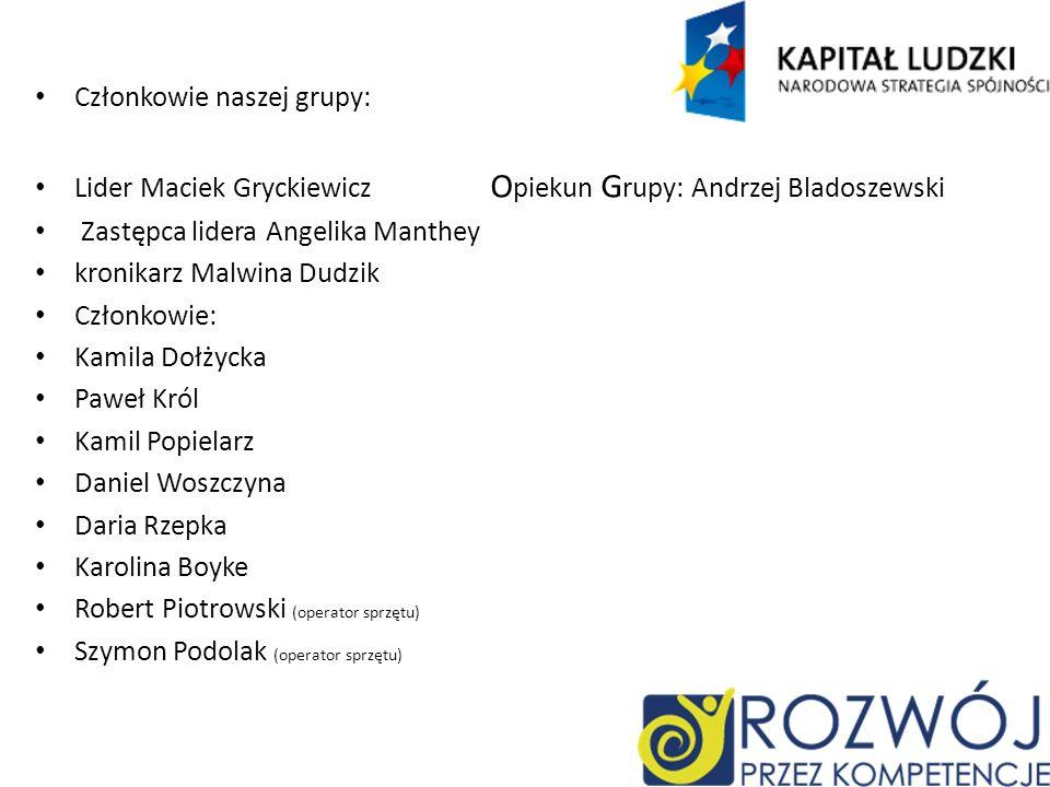 Członkowie naszej grupy: