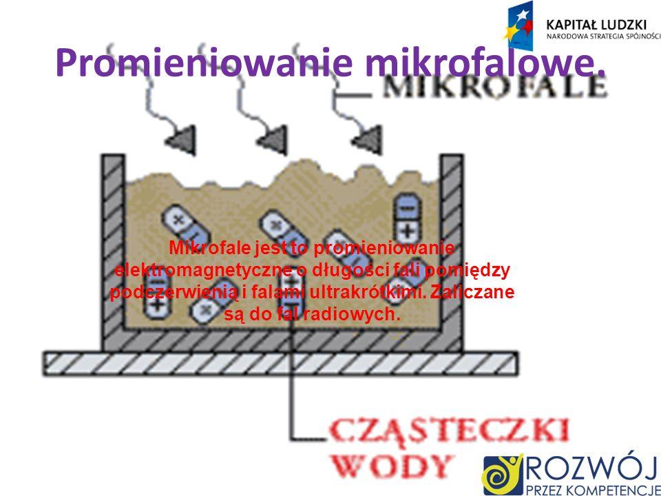 Promieniowanie mikrofalowe.