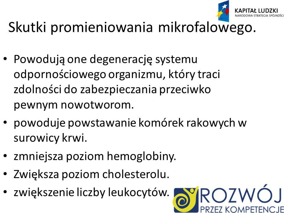 Skutki promieniowania mikrofalowego.