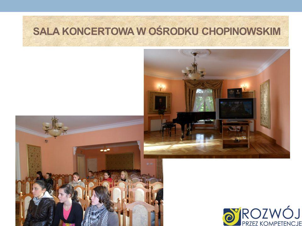 Sala koncertowa w ośrodku chopinowskim
