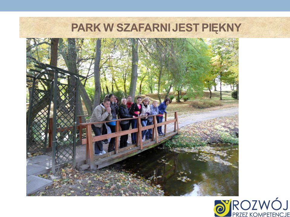 park w Szafarni jest piękny