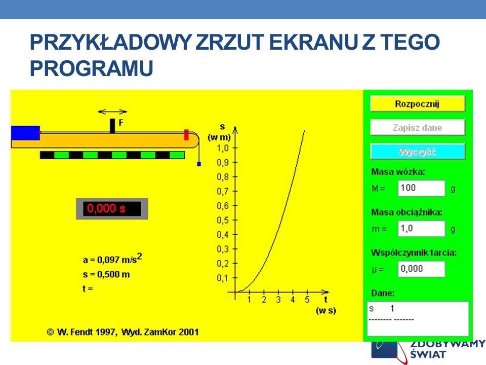 Przykładowy zrzut ekranu z tego programu