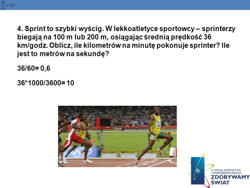 4. Sprint to szybki wyścig