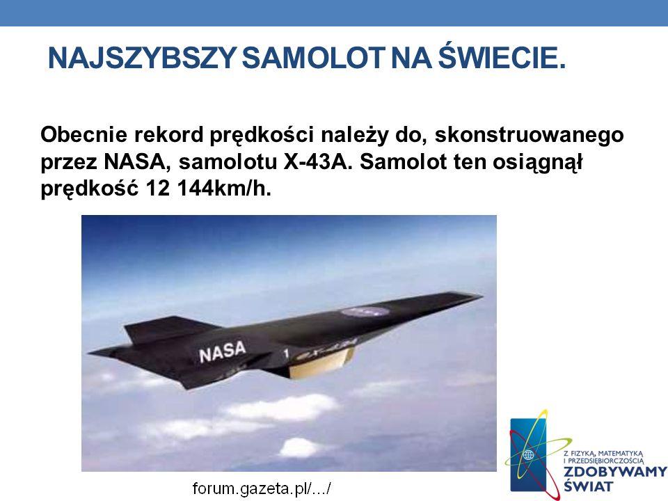 Najszybszy samolot na świecie.