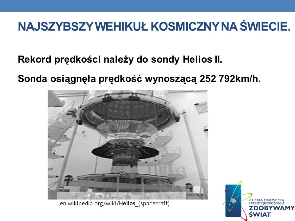 Najszybszy wehikuł kosmiczny na świecie.