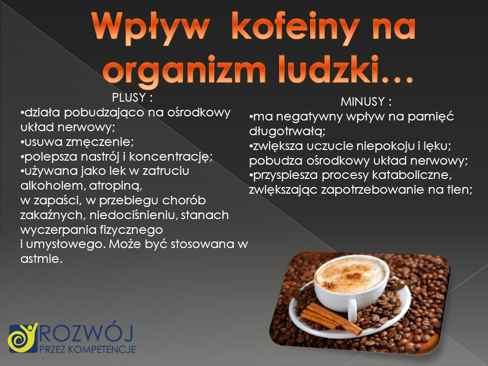 Wpływ kofeiny na organizm ludzki…