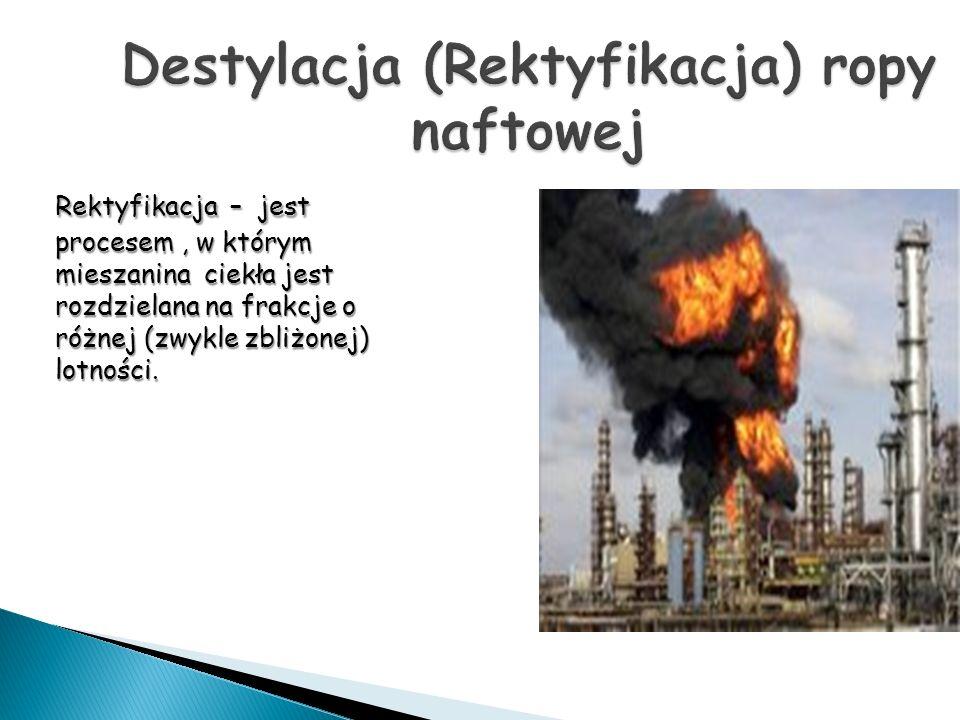 Destylacja (Rektyfikacja) ropy naftowej