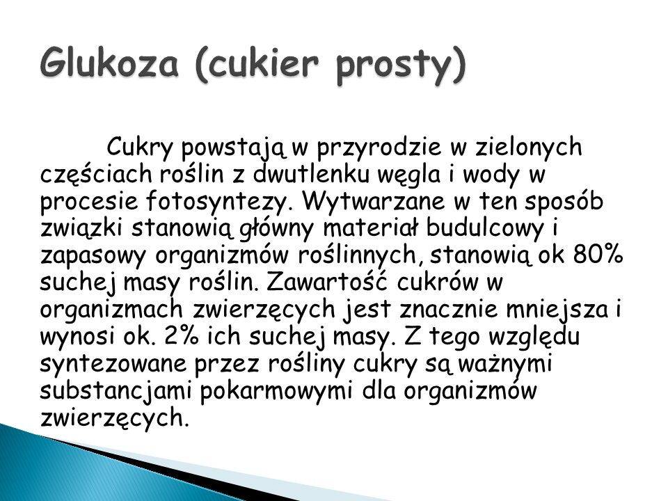 Glukoza (cukier prosty)