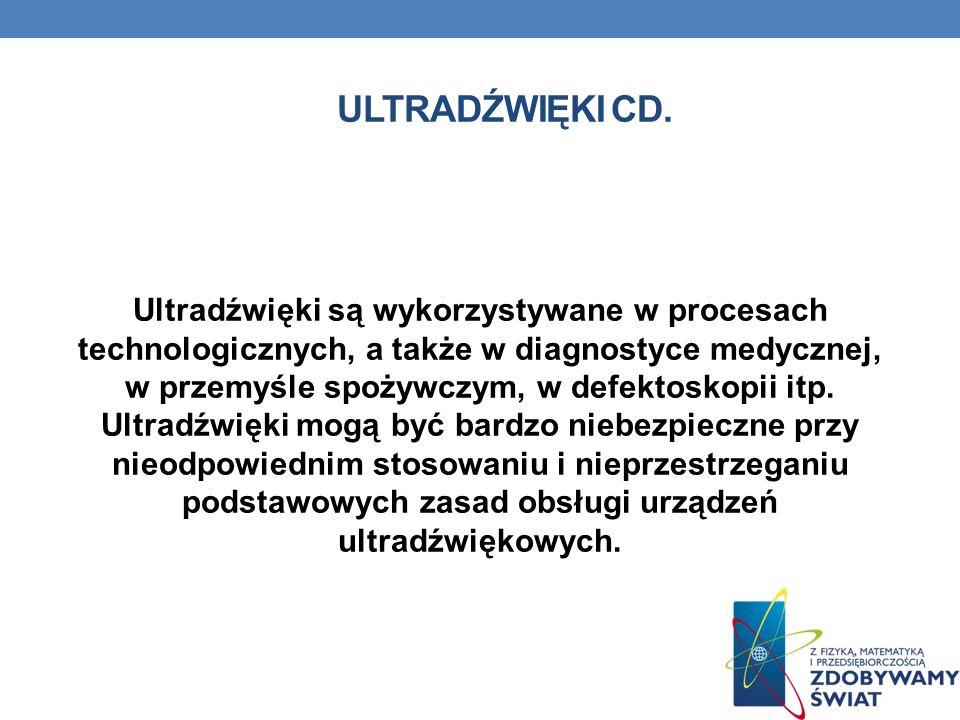 Ultradźwięki cd.