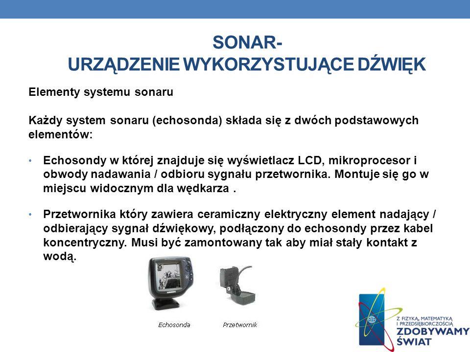 Sonar- urządzenie wykorzystujące dźwięk