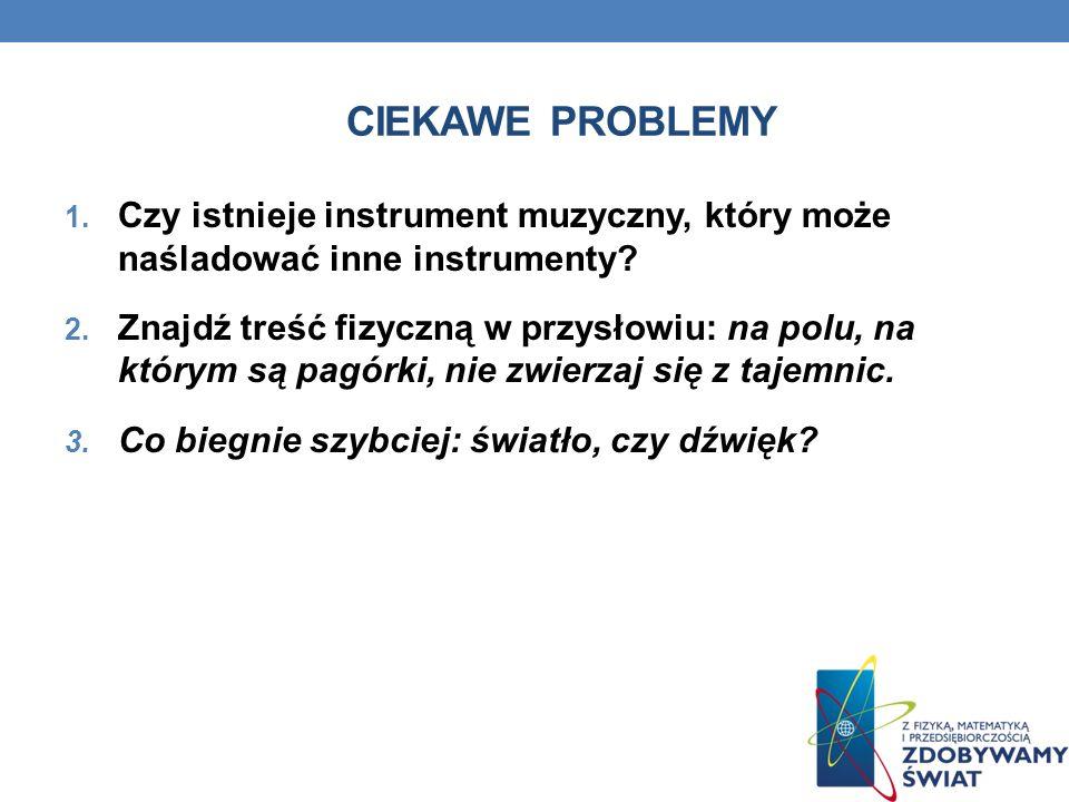 Ciekawe problemy Czy istnieje instrument muzyczny, który może naśladować inne instrumenty