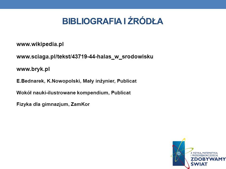 Bibliografia i źródła www.wikipedia.pl