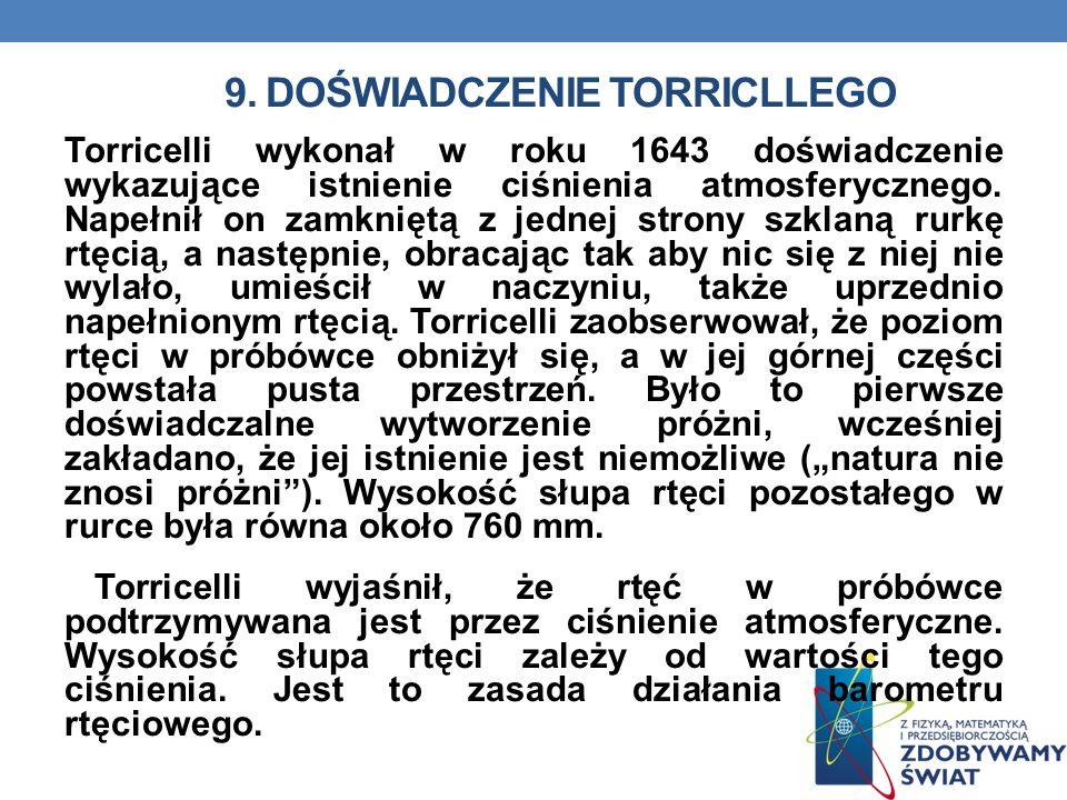 9. DOŚWIADCZENIE Torricllego
