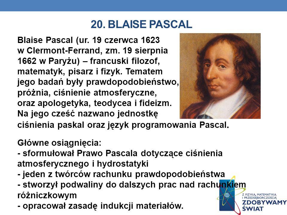 20. BLAISE PASCAL
