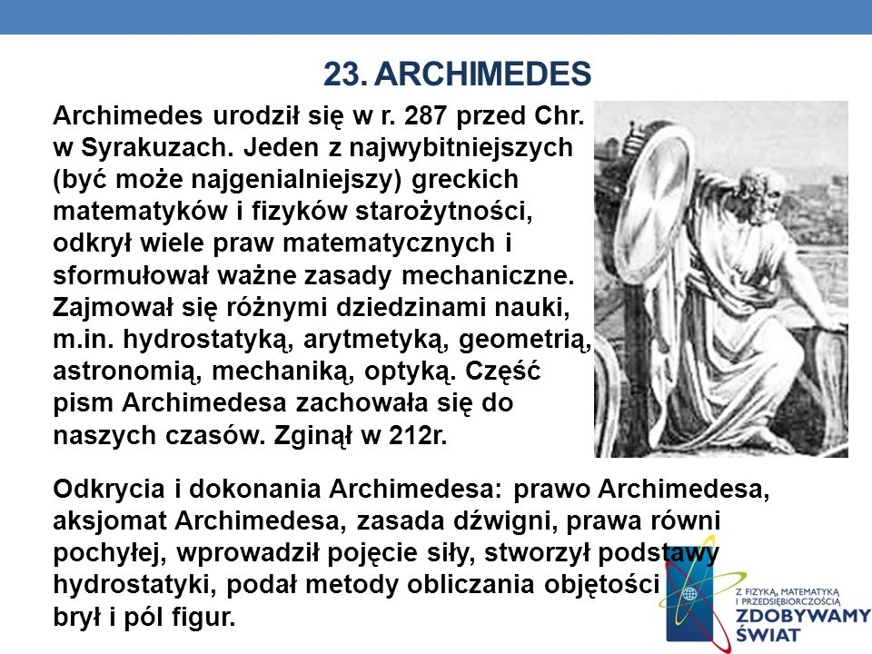 23. Archimedes