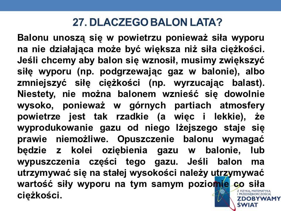 27. DLACZEGO balon LATA