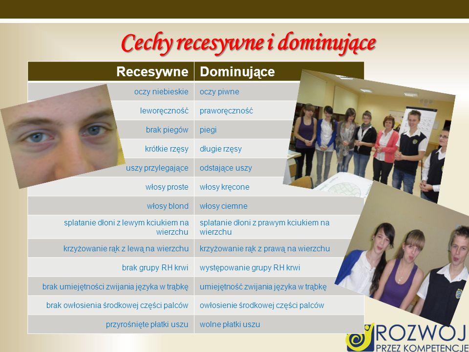 Cechy recesywne i dominujące