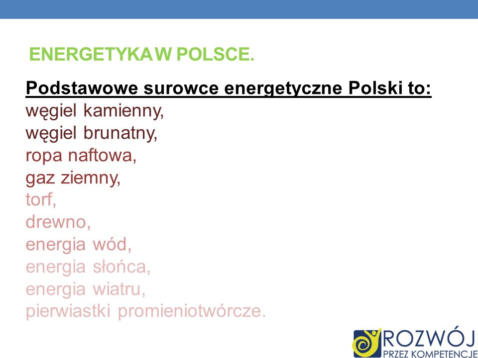 Energetyka w Polsce.