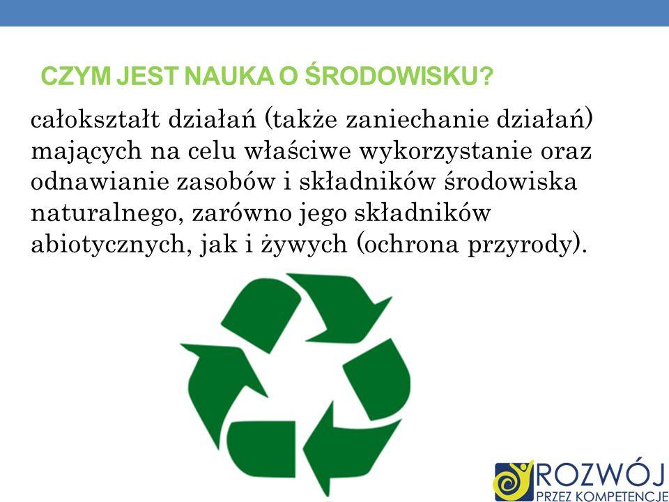 Czym jest nauka o środowisku