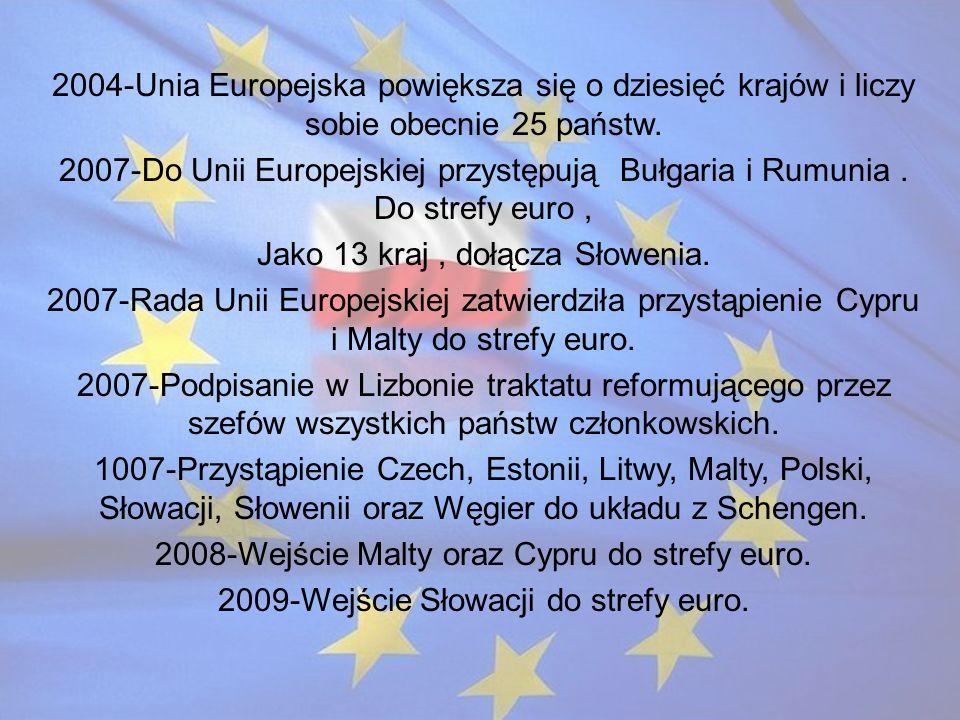 Jako 13 kraj , dołącza Słowenia.