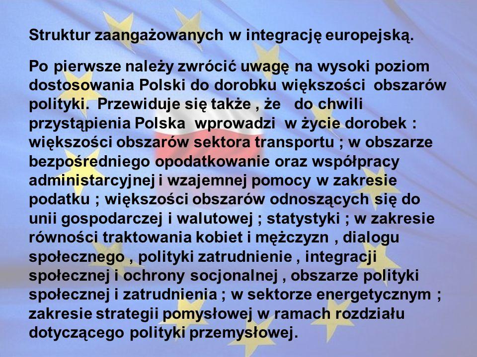 Struktur zaangażowanych w integrację europejską