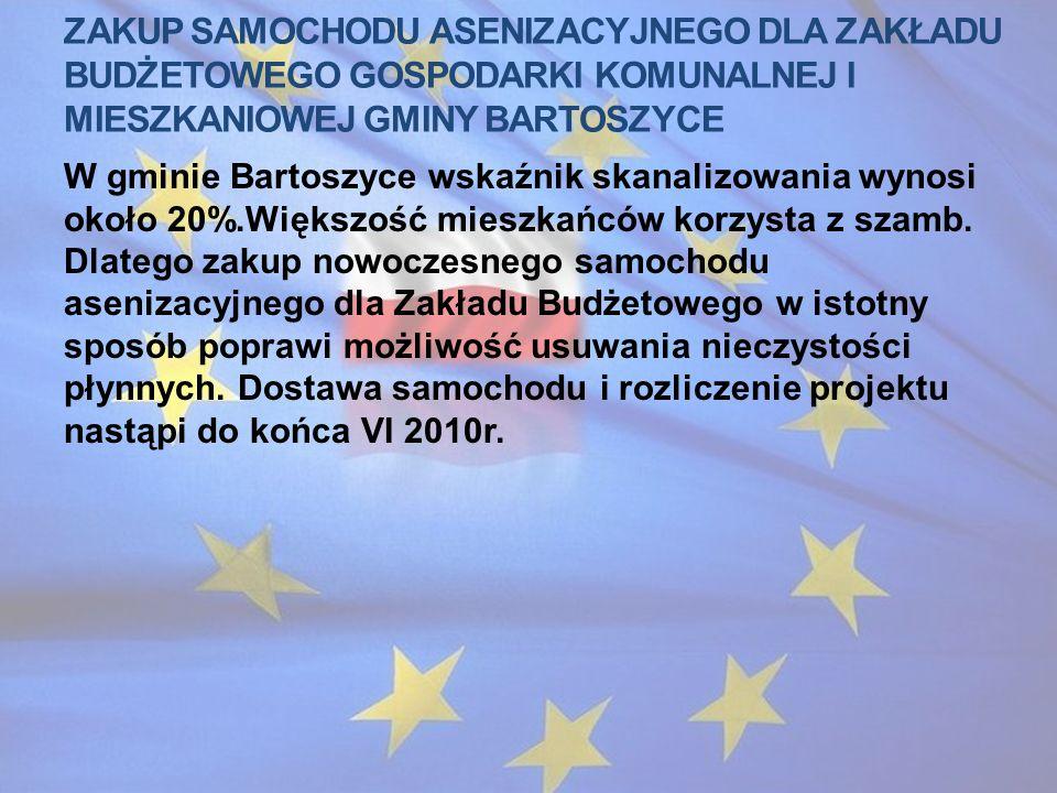 Zakup samochodu asenizacyjnego dla zakładu budżetowego gospodarki komunalnej i mieszkaniowej gminy bartoszyce