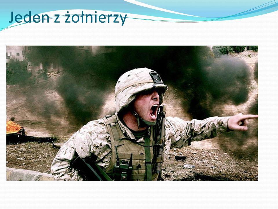 Jeden z żołnierzy