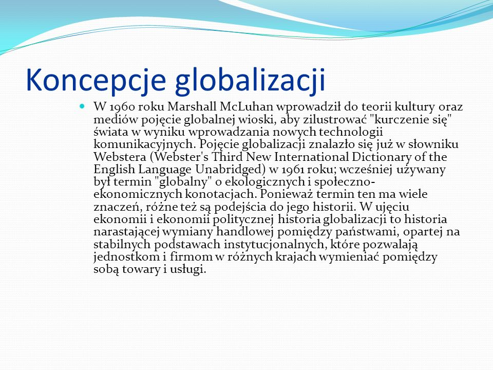 Koncepcje globalizacji