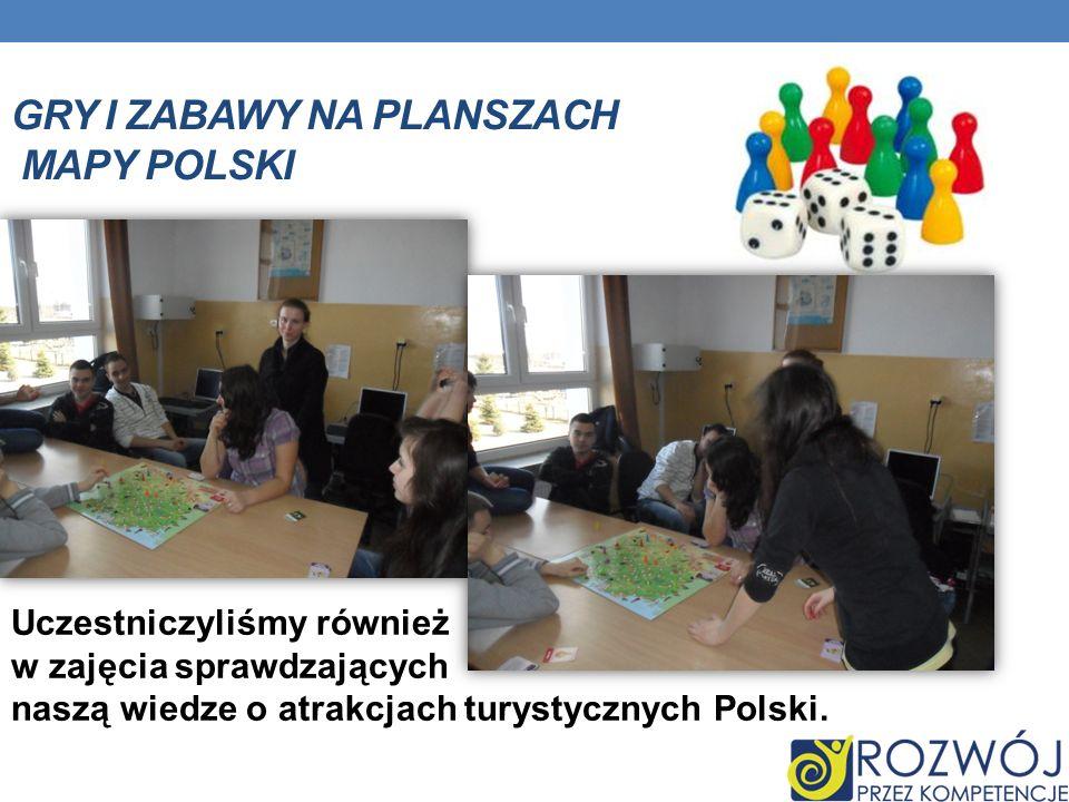 Gry i zabawy na planszach mapy polski