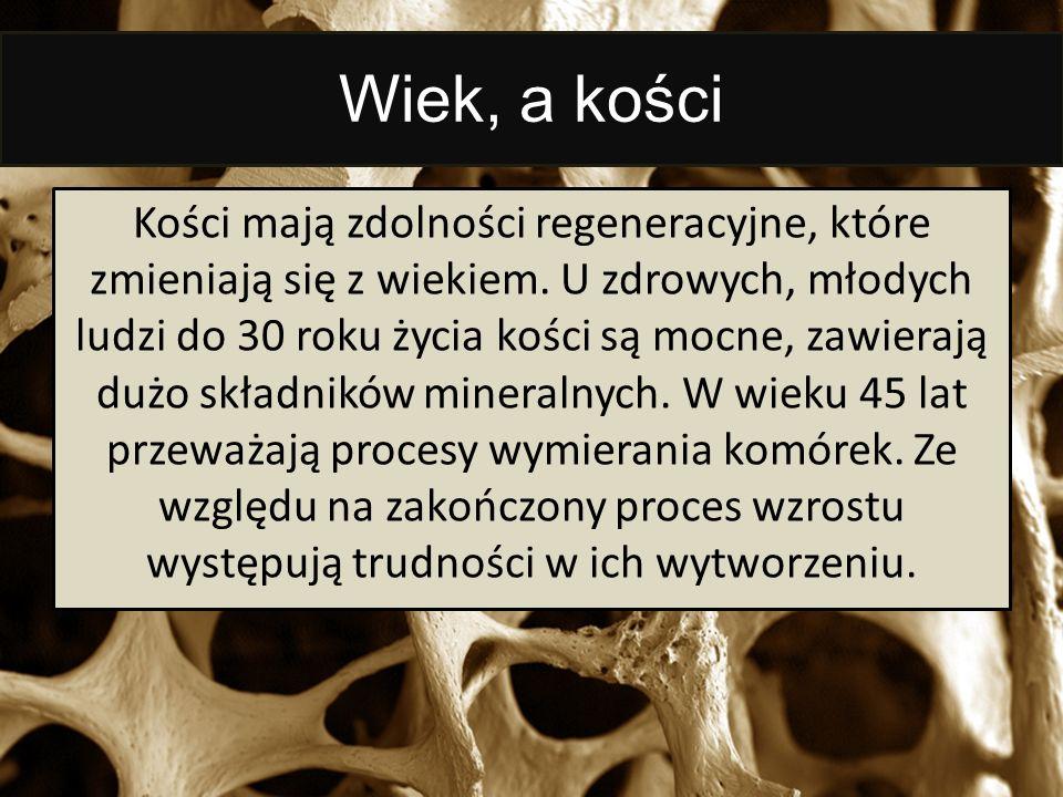 Wiek, a kości