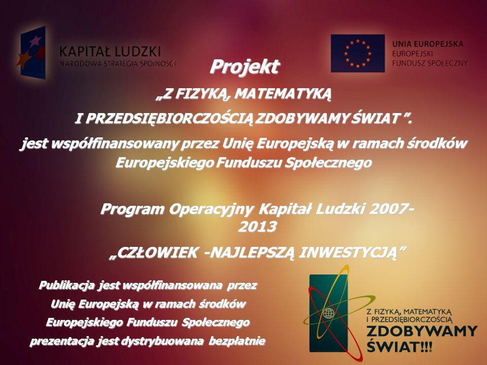 Projekt Program Operacyjny Kapitał Ludzki 2007- 2013