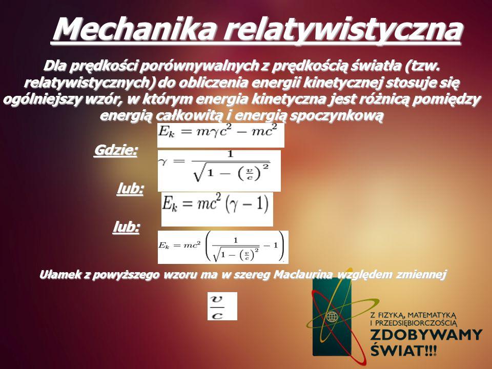 Mechanika relatywistyczna