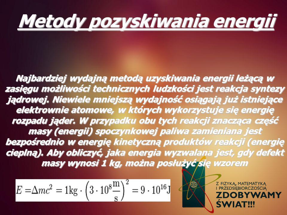Metody pozyskiwania energii